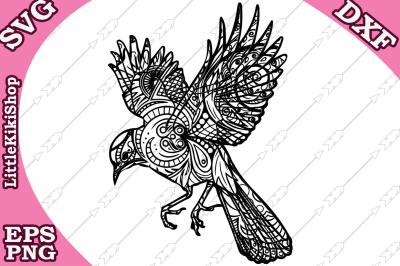 Zentangle bird Svg, MANDALA BIRD SVG, Zentangle animal Svg