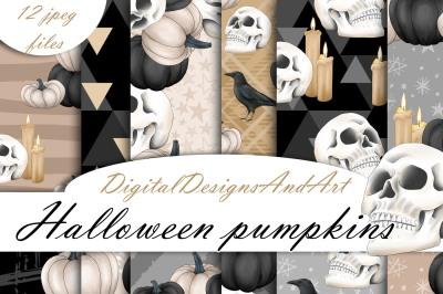 Halloween pumpkins paper