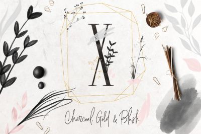 Charcoal, Gold & Blush Collection