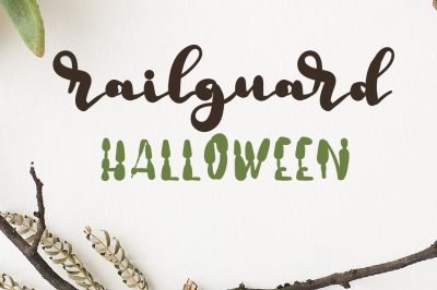 Railguard Halloween script font by Southern Font Store (60% Off)