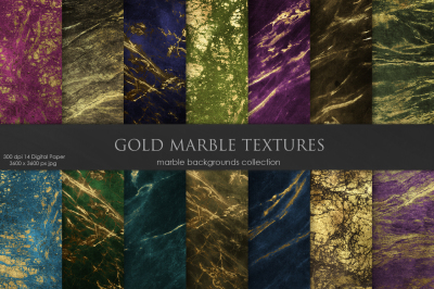 Marble Gold Textures