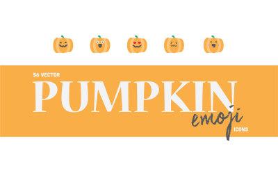 56 Vector Pumpkin & Jack O'lanterns