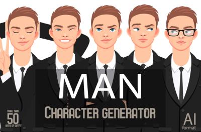 MAN character generator (AI,EPS)