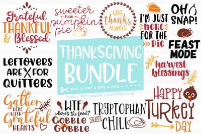Thanksgiving Bundle SVG DXF - 13 Designs