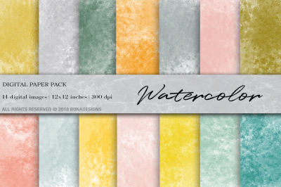 Watercolor Background, Watercolor Digital Paper