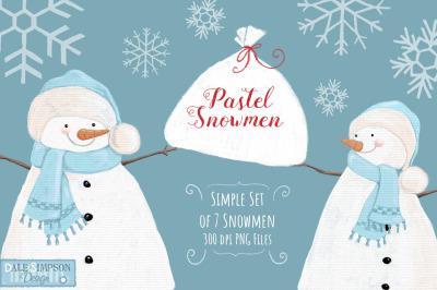 Pastel Snowmen