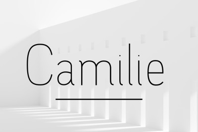 Camilie - Thin Font