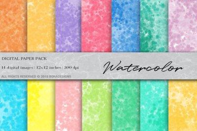 Watercolor Digital Paper, Watercolor Background