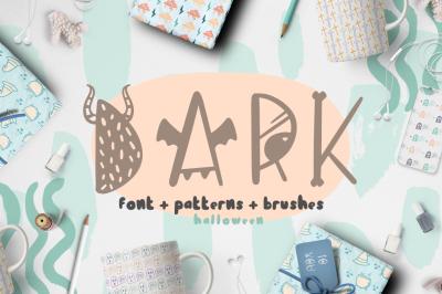 Dark font + patterns, brushes, MORE!
