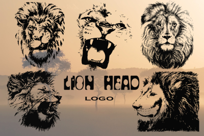Lion head | hand drawn | vector
