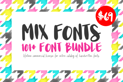 101+ Handwritten Font Bundle