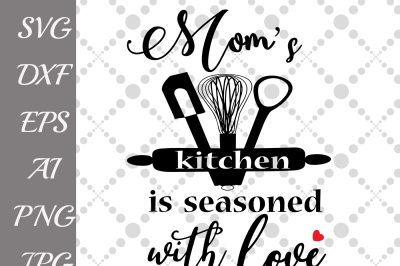 Season with Love Svg, KITCHEN QUOTE SVG,Kitchen silhouette,T-Shirt