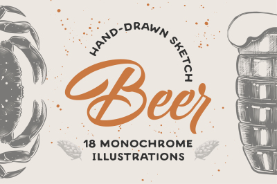 Beer menu sketches collection