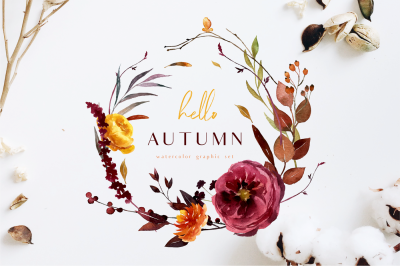 HELLO AUTUMN-watercolor set