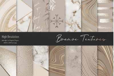 Gold and Bronze Marble Textures