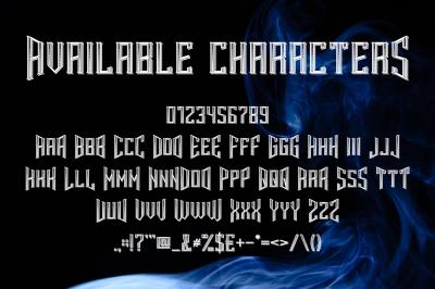 Smokers typeface
