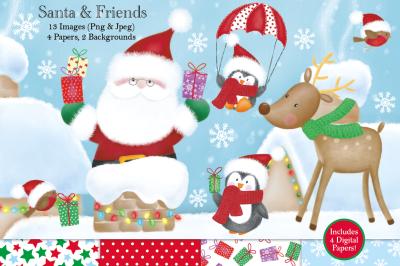 Christmas clipart, Christmas graphics & illustrations,Santa