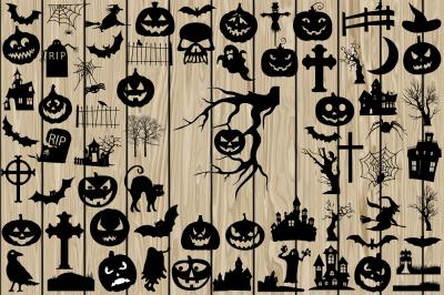 68 Halloween SVG, Halloween DXF, Halloween EPS, Halloween Silhouette.