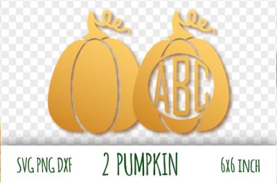Two pumpkins svg. Harvesting clipart