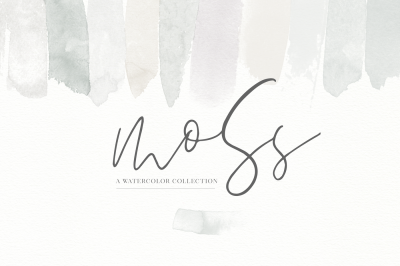 Moss - Watercolor Elements & Textures