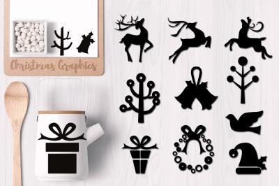 Christmas Silhouette Design Graphics