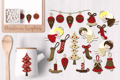 Classical Christmas Clip Art Graphics
