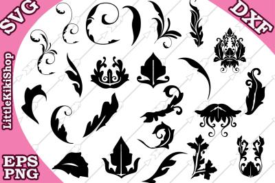 Flourish Svg, FLOURISH SWIRIL SVG,Doodles Svg,Swirls Svg