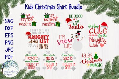 Kid's Christmas Shirt Bundle