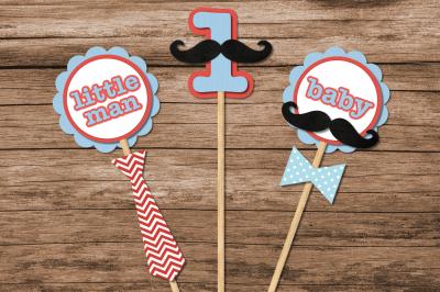 Mustache Bash Party Decor Set   SVG   PNG   DXF