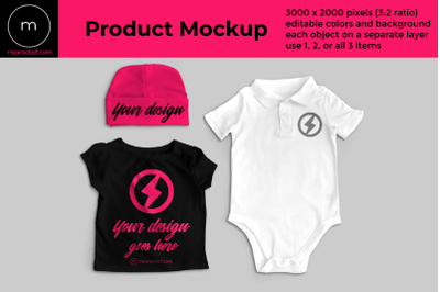 Baby Clothes | Photoshop Mock Up