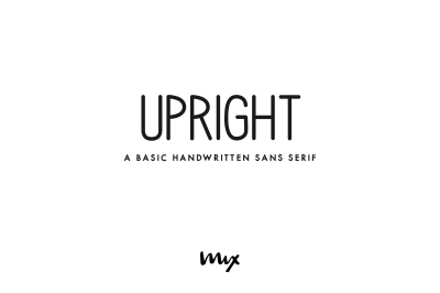 Upright - A  Handwritten Sans Serif Family