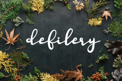 Defilery Script Font by watercolor floral designs