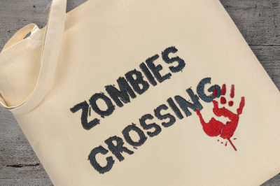 Zombies Crossing | Embroidery