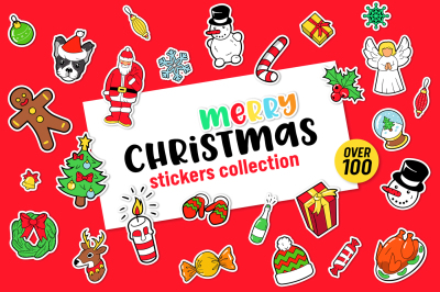 Merry Christmas Stickers Collection
