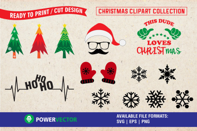 Christmas Clipart - A Svg Collection for crafters