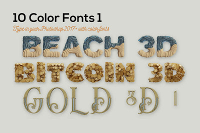 10 Color SVG Fonts 1