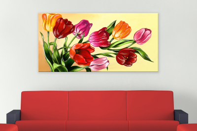 Tulips digital painting