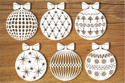 Baubles, Decorative Christmas Balls SVG files
