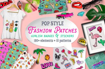 Girlish Fashion pop style clipart
