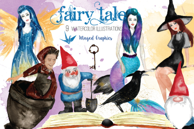Watercolor fairy tale illustrations