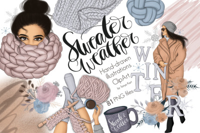 Sweater Weather Graphic Design Kit