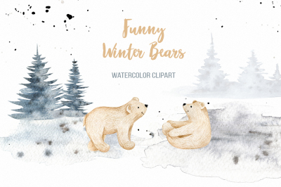 Funny Winter Bears