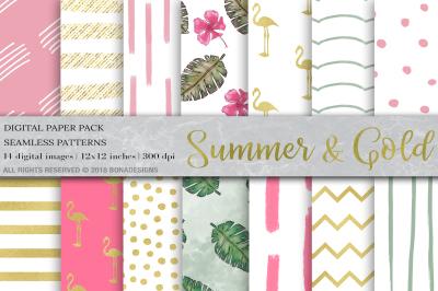 Tropical Digital Paper, Summer Digital Paper
