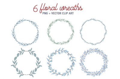 Floral wreaths clipart