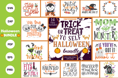 Big Halloween Bundle - Svg DXF PDF EPS PNG