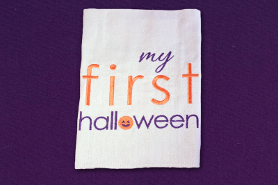 My First Halloween | Embroidery