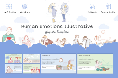 Human Emotions Illustrative Keynote