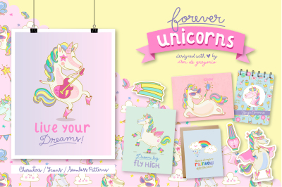Forever Unicorns. Cute Collection