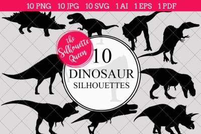 Dinosaur Silhouette Vectors