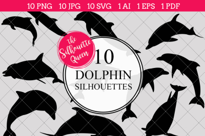 Dolphin Silhouettes Vectors